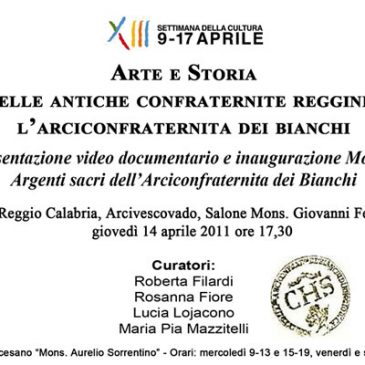 Art and history of the ancient confraternities of Reggio